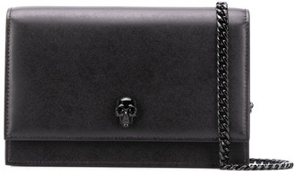 Alexander McQueen Skull-Stud Clutch Bag