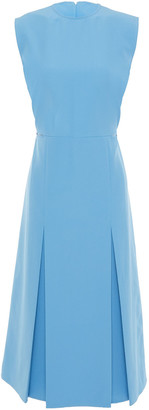 Victoria Victoria Beckham Cutout Pleated Crepe Dress