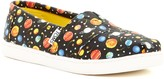 Toms Glow-in-the-Dark Planets Classic Slip-On Shoe (Little Kid & Big Kid)