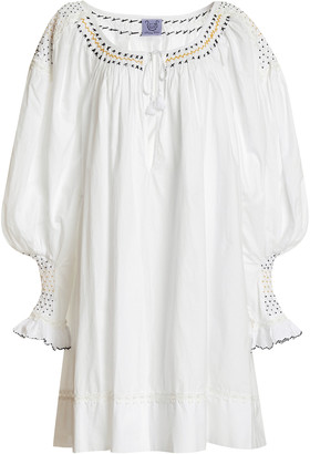 Thierry Colson Valeska Embroidered Cotton Mini Dress