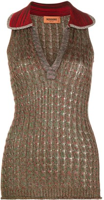 Missoni Sleeveless Cable-Knit Top