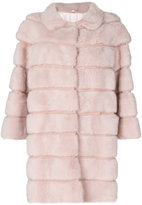 Simonetta Ravizza panel coat - women - Silk/Mink Fur - 40