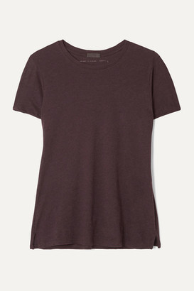 ATM Anthony Thomas Melillo Schoolboy Slub Pima Cotton And Modal-blend Jersey T-shirt - Burgundy