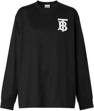 Burberry long-sleeve monogram motif T-shirt