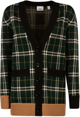 Burberry Checked Knit Cardigan