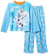 Disney Frozen Little Boys Olaf Long Sleeve Pajama Set (XS (4/5))