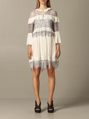Twin-Set Lace Dress With Ruffles