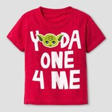 Star Wars Toddler Boys' Yoda Hearts Short Sleeve T-Shirt - Heather Red - Valentine's Day Tee