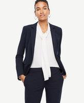 Ann Taylor Petite Seasonless Stretch One Button Perfect Blazer
