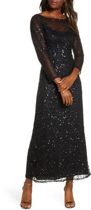 Pisarro Nights Sequin Mesh Gown