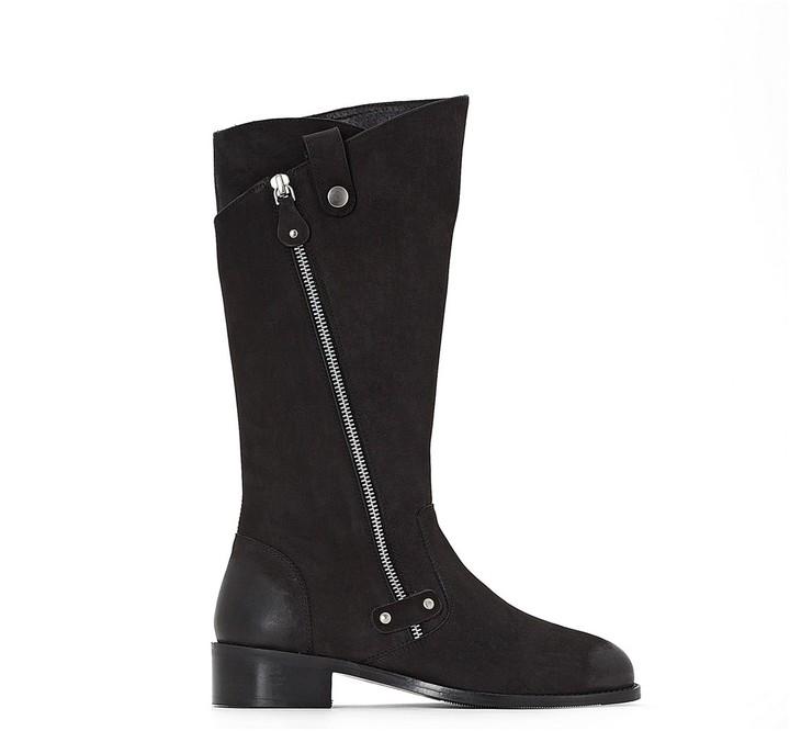 e4d98279d26 CASTALUNA PLUS SIZE Wide Fit Boots with Stylish Zip Detail