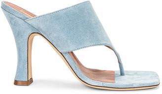 Paris Texas Velour 95 Thong Sandal in Light Blue   FWRD