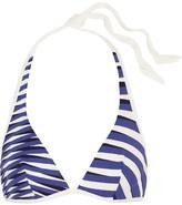 La Perla Op-art Printed Triangle Bikini Top - Bright blue