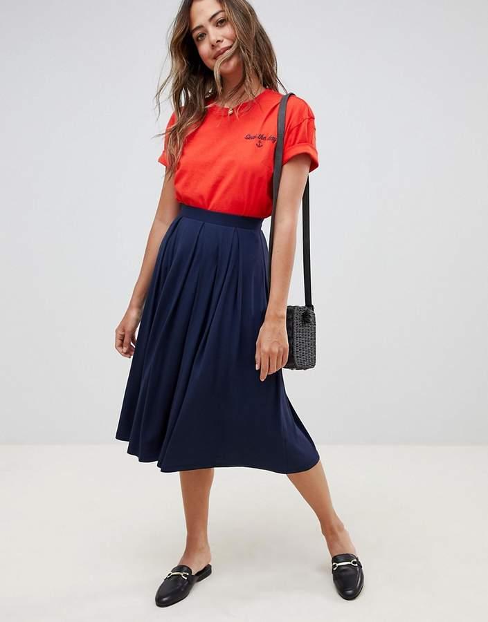 5b928766f7c7 Box Pleat Midi Skirt - ShopStyle