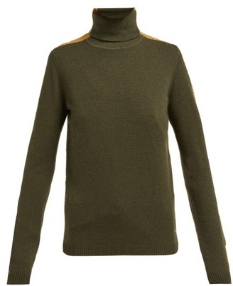 Bella Freud Britt Roll Neck Cashmere Blend Sweater - Womens - Khaki Multi