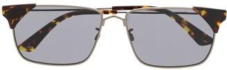 McQ Swallow Rectagular Frame Sunglasses