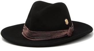 Vince Camuto Paisley Scarf Band Wool Panama Hat