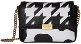 Moschino Cow and Pied De Poule Print Crossbody Cross Body Handbags