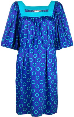 Yves Saint Laurent Pre Owned Circle Print Dress