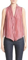Armani Collezioni Women's Print Linen & Silk Blouse