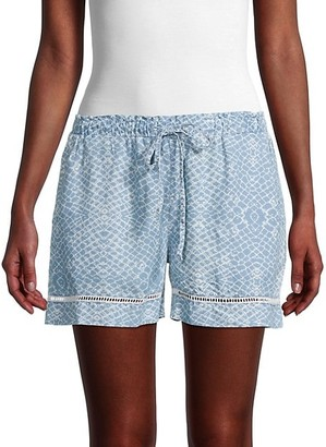Pure Navy Lace-Trimmed Shorts