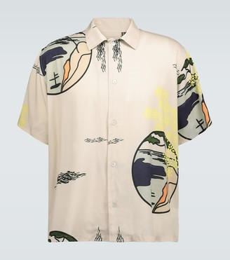 Éditions M.R Eric printed short-sleeved shirt