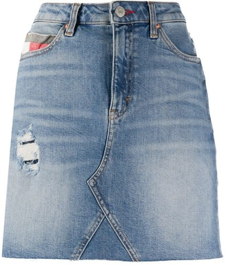 Tommy Jeans Faded Denim Skirt