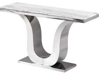Everly Quinn Manningtree Marble Console Table