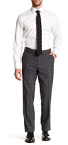 Louis Raphael Plain Weave Plaid Tailored Pant
