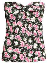 H&M Tube Top - Black/floral - Ladies