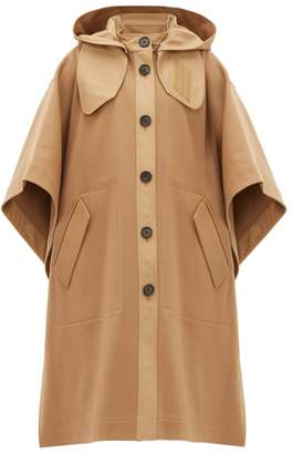 Joseph Detachable-hood Wool-blend Felt Cape - Womens - Camel