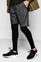 Boohoo Space Dye Mid Length Jersey Shorts