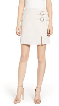 Blank NYC Suede Buckle Skirt