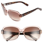 Bobbi Brown Women's 'The Evelyn' 63Mm Square Sunglasses - Pink/ Havana