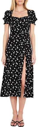 Bardot Millie Midi Spotted Split Dress