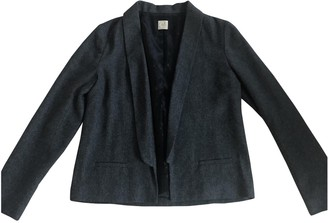 Des Petits Hauts Anthracite Wool Jacket for Women