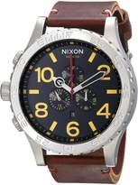 Nixon Men's A124019 51-30 Chrono Leather Watch