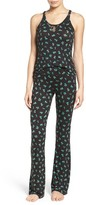 Betsey Johnson Women's Mesh Inset Pajamas