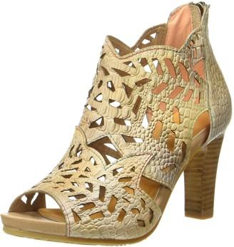 Laura Vita Women ALBANE 04 Heels Sandals Beige Size: 3 UK/36 EU
