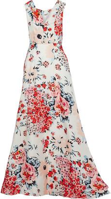 Carolina Herrera Floral-print Silk-gazar Gown