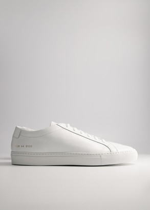 Common Projects Men's Original Achilles Low in White Shoes, Size 41 | Leather/Rubber