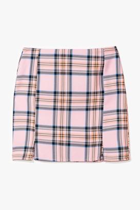 Nasty Gal Womens Not a Clue Check Mini Skirt - Pink - 14