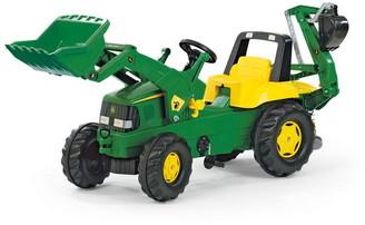 John Deere Deere Tractor with Frontloader & Rear Excavator