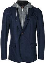 Eleventy layered hooded jacket