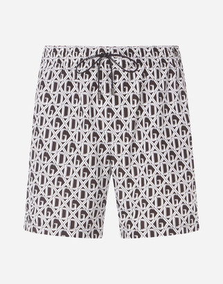 Dolce & Gabbana Medium Swimming Trunks With Net Print
