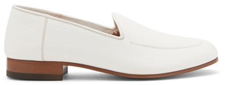 The Row Topstitched Leather Loafers - White