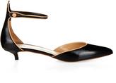 Francesco Russo Point-toe kitten-heel leather pumps
