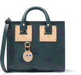 Sophie Hulme Albion Box Glossed Polka-dot Leather Shoulder Bag - Forest green