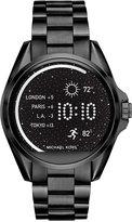 Michael Kors Access Unisex Digital Bradshaw Black Ion-Plated Stainless Steel Bracelet Smart Watch 45mm MKT5005