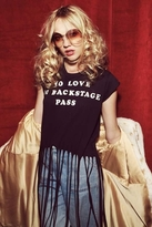 Wildfox Couture Backstage Pass Festival Fringe Tee in Dirty Black